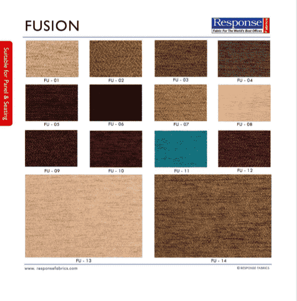 Fusion range in auditorium fabric manufacturers